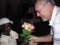 Kenya Marvin and Girl with Flowers