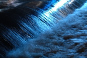 Blue Flowing River